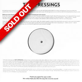 La Sombra – 16 BARS Test Pressing